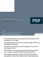 XOR DDoS Malware Cloud Security Threat Advisory Slideshow