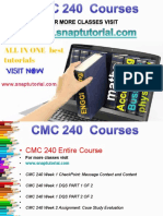 CMC 240 Proactive Tutors/snaptutorial