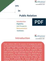 Careers in Public Relation