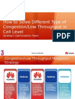 Congestion or Low Throughput Mitigation Strategy