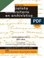 GuiaDidactica2015-2016Archivistica