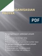 Pengorganisasian Proyek
