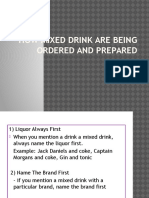How MHow mixed drink are being ordered and prepared.pptxixed Drink Are Being Ordered and Prepared