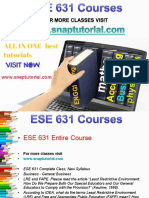 ESE 631 Academic Success/snaptutorial