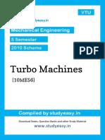 Me 5th Sem Turbo Machines [10me56]Unit 1,2,3,4,5,6