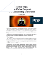 Hatha Yoga, The Coiled Serpent & Undiscerning Christians