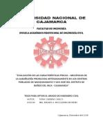 Evaluacion de las Caracteristicas de la Albañileria