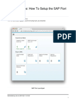 SAP for Mobile - How to Setup the SAP Fiori