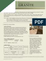 Granite Material Fact Sheet