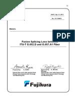 B-11F0070(Fusion Splicing Loss Between G652 and G657)