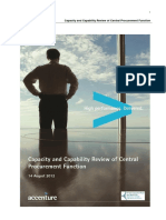 Capability and Capacity Review of Central Procurement Function