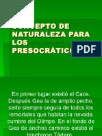 Conceptos de La Naturaleza en Los Presocraticos