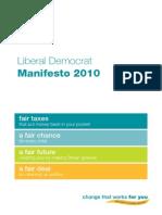 Libdem Party Manifesto 2010