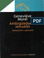 Ambigüedades sexuales. Sexuación y psicosis - Geneviève Morel.pdf