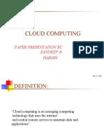 PPT on Cloud Computing