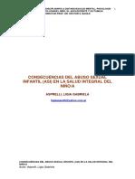 Consecuencias Del ASI en La Salud Integral Niño