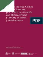 Guía de Práctica Clínica sobre el TDHA en niños y adolescentes