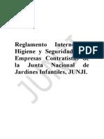Reglamento Seguridad Empresas Contratistas JUNJI 1