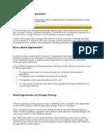 Principles of Market Segmentation
