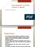 Comparative Analysis of Share Prices of Hotels In