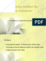 Definisi, Etiologi, Klasifikasi Dan Patofisiologi Konjungtivitis