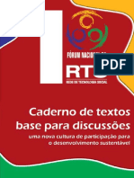 1 Forum Rede de Tecnologias Sosciais - Cuaderno Textos Base