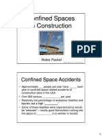 Confined Spaces in Construction Notes Packet