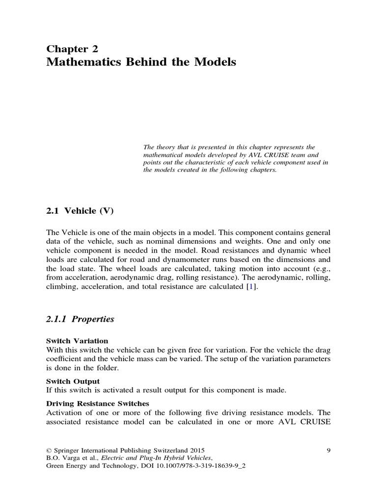 AVL Cruise Math Models c2 | Transmission (Mechanics) | Clutch