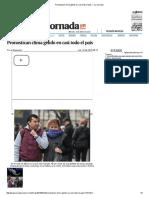 Pronostican Clima Gélido en Casi Todo El País — La Jornada