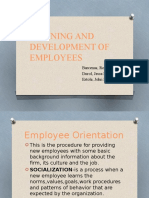 Training and Development of Employees