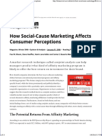 How Social-Cause Marketing Affects Consumer Perceptions