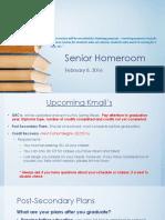 senior homeroom 020816
