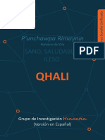 Nuestra palabra quechua del día es qhali 'sano, saludable, ileso'