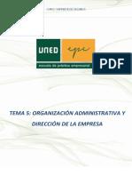 5_Organizacion Administrativa y Direccion de La Empresa