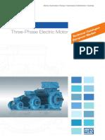 WEG w22 Three Phase Motor Technical European Market 50025712 Brochure English