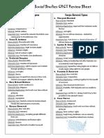 social studies review sheet