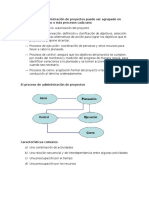 El Proceso de Administración de Proyectos Puede Ser Agrupado en Cinco Grupos