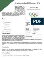 Juegos Olímpicos de la Juventud de Lillehammer 2016