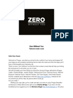 Zero Without You Eat & Drink Tips for guests