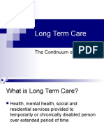 Longterm Care and Mental Health
