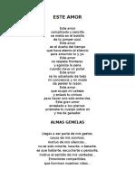 Poemas de Amor y Amistad