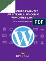 Como criar e manter um site ou blog com o Wordpress