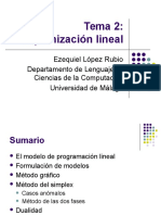 2.-Optimizacion Lineal SIMPLEX