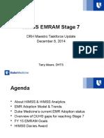 HIMSS EMRAM Stage 7 DMT
