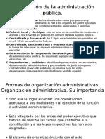 Clasificación de La Administración Pública
