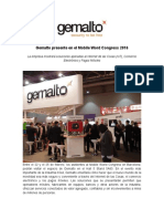 Gemalto Presente en El Mobile World Congress 2016