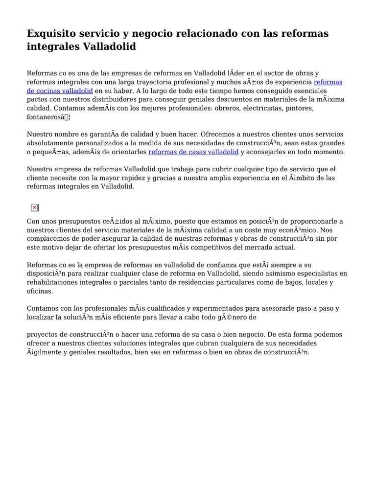 Reforma Casa Presupuesto El Precio De La Reforma Integral De Un  ~ Ejemplo Presupuesto Reforma Vivienda