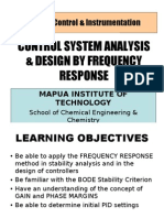 Control System Analysis & Design by Frequency Response