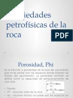 Propiedades Petrofísicas de La Roca