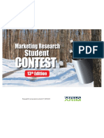 Case marketing research student contest 2016